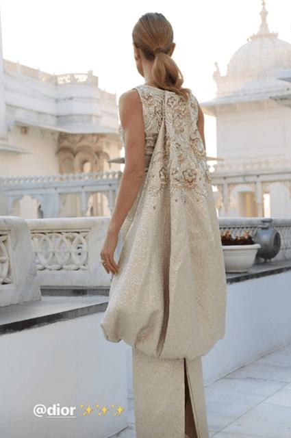 Махарани: Наталья Водянова пришла на индийскую свадьбу в сногсшибательном платье