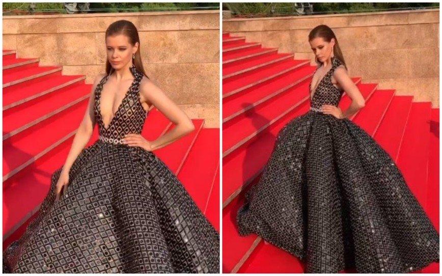 8-килограммовое платье Шпицы и роза Подкаминской: закрытие «Кинотавра» стало праздником экстравагантности