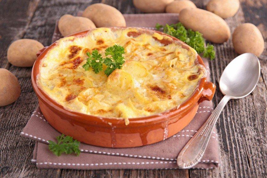 Картофельный гратен с мясом от Анны Михайловской