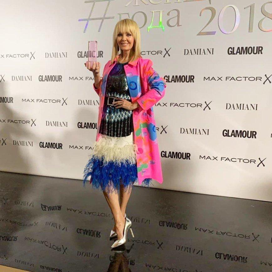 Валерия облачилась в необычный наряд на премию Glamour