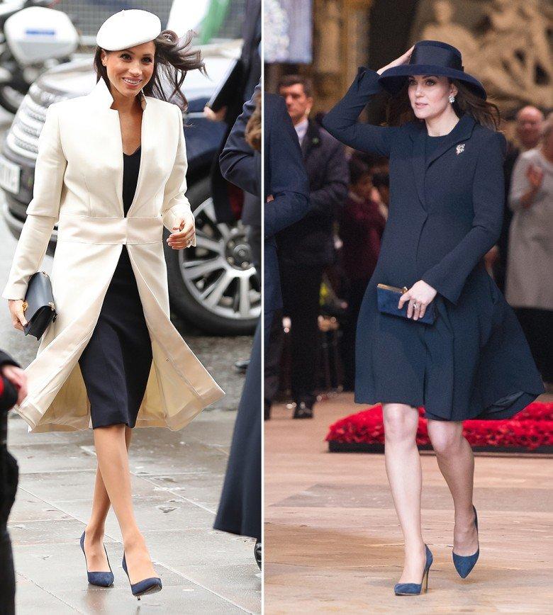 «2 по цене 1?»: Кейт Миддлтон и Меган Маркл вышли в одинаковых туфлях