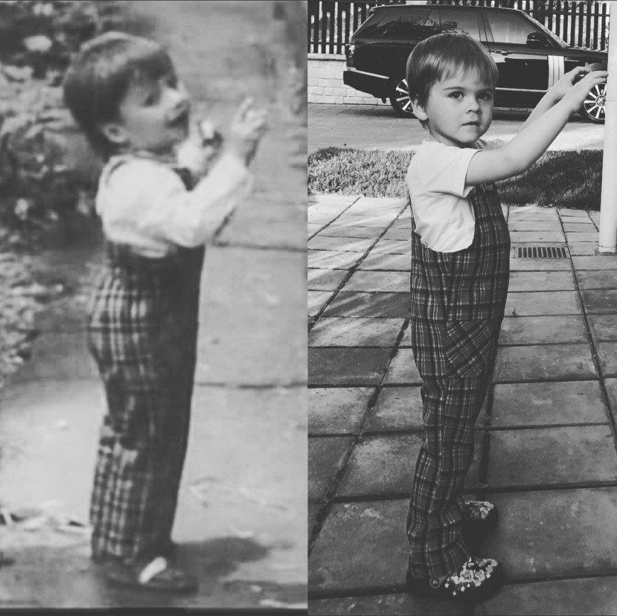 «На вас не похож!»: Сергей Лазарев сравнил фото себя и сына