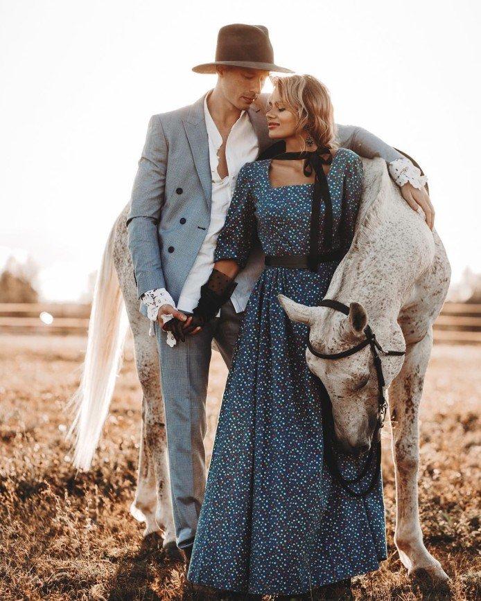 Никита Пресняков и Алена Краснова снялись в фотосессии в стиле Дикого Запада