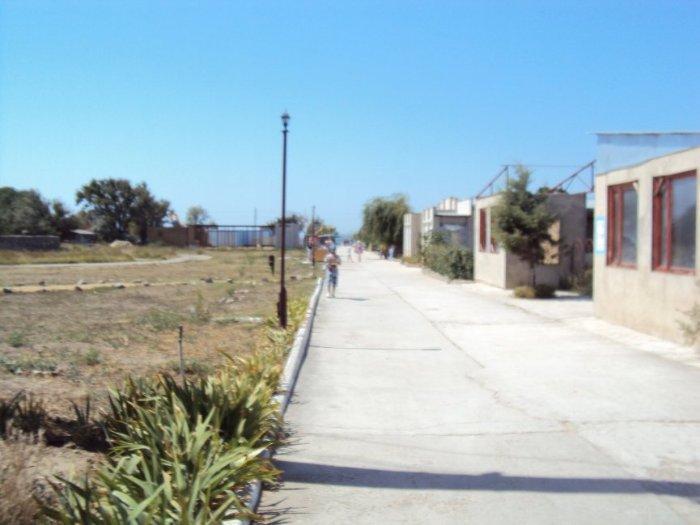 дорога на пляж в г.Щелкино