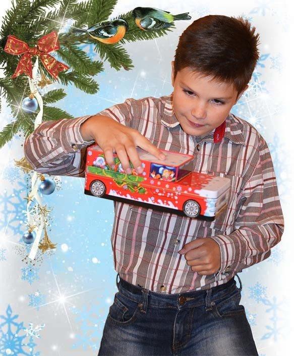 Машинка Деда Мороза (Вес 400, цена 350 руб.)
