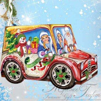 Новогоднее авто, микрогофрокартон, 900 гр, 440 р.