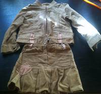 польский велюровый костюм, рост 110, носили на выход, т.е нечасто. Очень стильная вещичка. 500 руб.