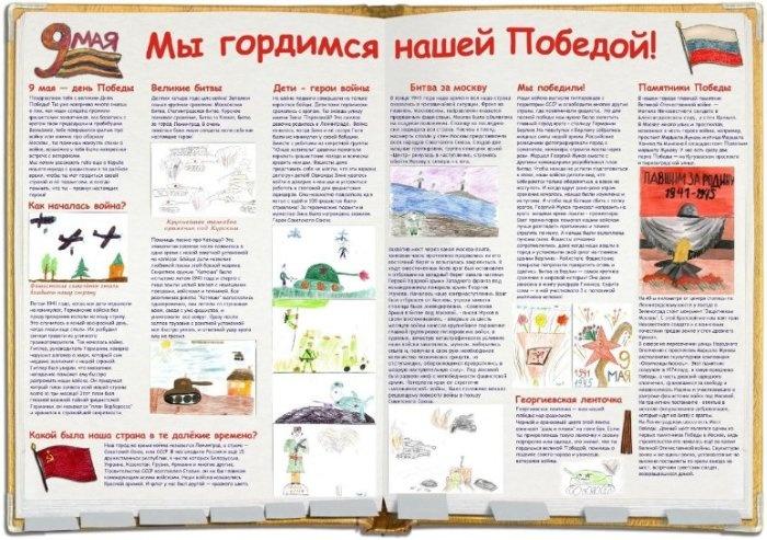В Санкт-Петербурге есть замечательный проект наши-праздники.рф Воспользовавшись идеей, мы подготовили плакат к 9 мая. Рисунки учеников нашего класса.