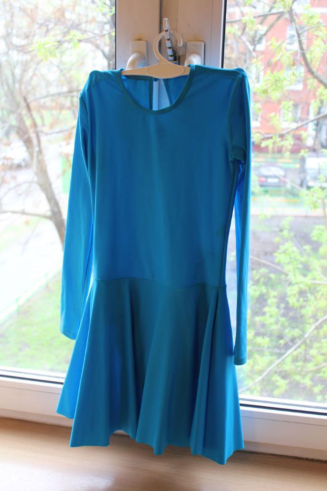 Рейтинговое платье для бальных танцев на 6 лет размер 122-128 600 руб