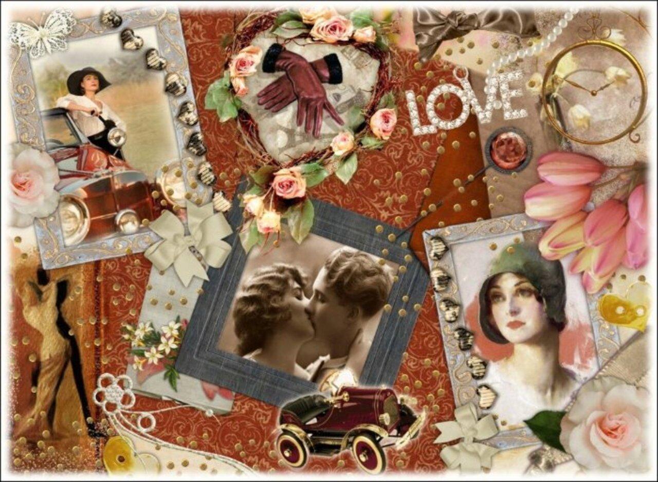 Коллаж из открыток фотошоп, картинка
