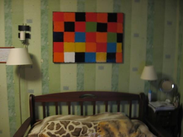 Копия картины Пауля Клее, на холсте без рамы, размер 75*105см.