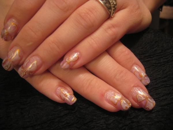 Дизайн ногтей фото блестки растяжка