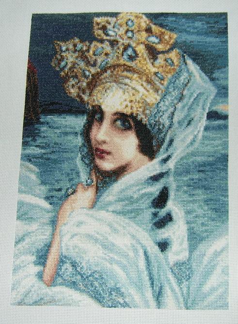 """Автор: La_Ri_Sa, Фотозал: Мое хобби, Стоянкина """"Царевна Лебедь"""". Работа закончена 11 апреля 2008 г. Вышивалась очень быстро :)"""