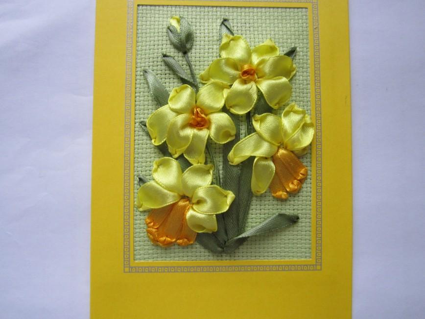 Картинки открыток из ленточек