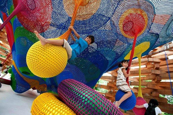 Уникальная вязаная детская площадка