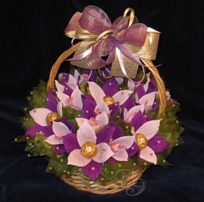 расскажем букеты из конфет орхидеи фото это сказывается