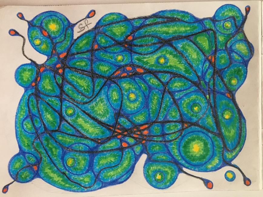 Автор: Фея Симона , Фотозал: Мое хобби, А в голове моей Красное море... Нейрографика помогает отдохнуть и привести мысли в порядок.