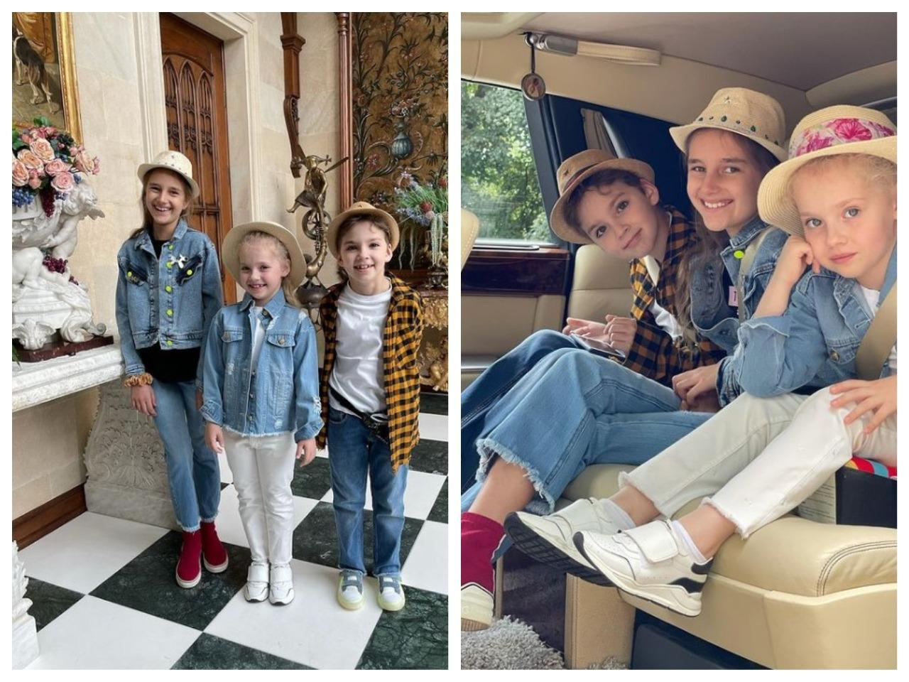 Племянница выше! Максим Галкин поделился снимком детей с дочерью Кристины Орбакайте