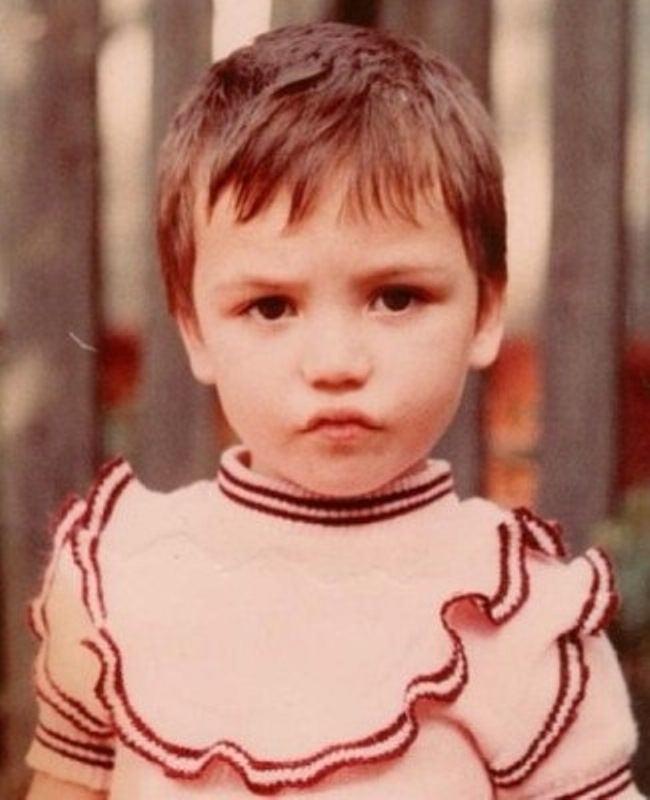 Ольга Серябкина в детстве