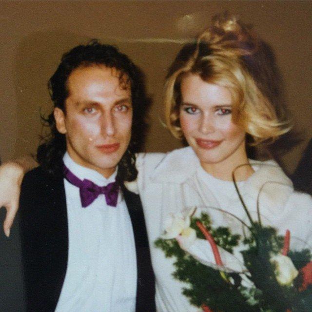 Дмитрий Нагиев в молодости с Клаудией Шиффер
