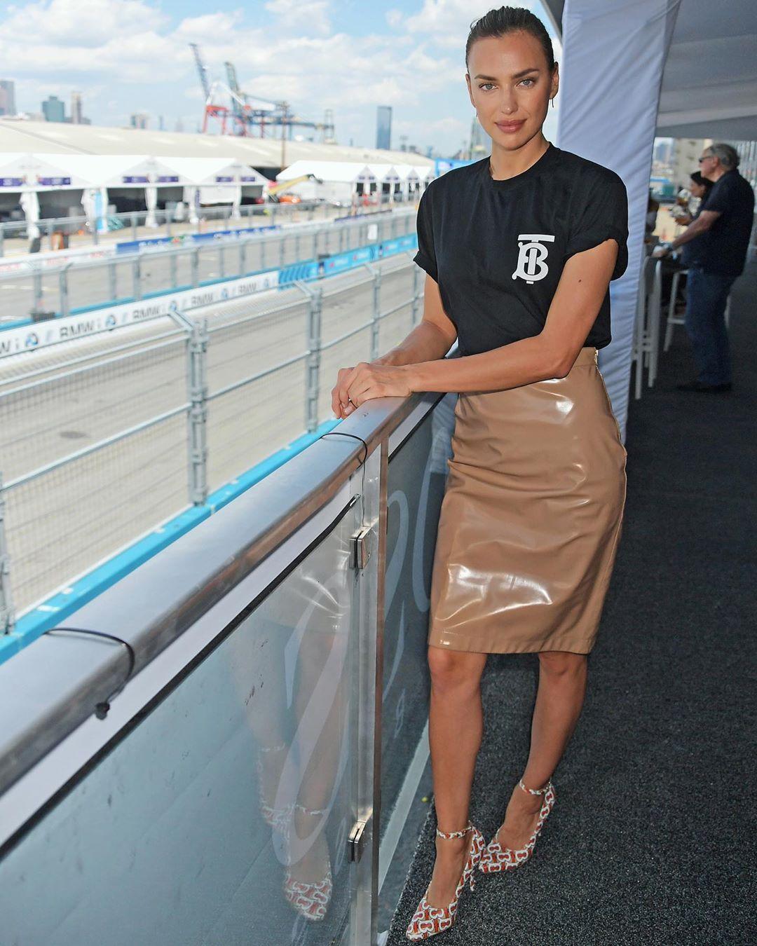 Ирина Шейк на финале гонок «Формула Е»