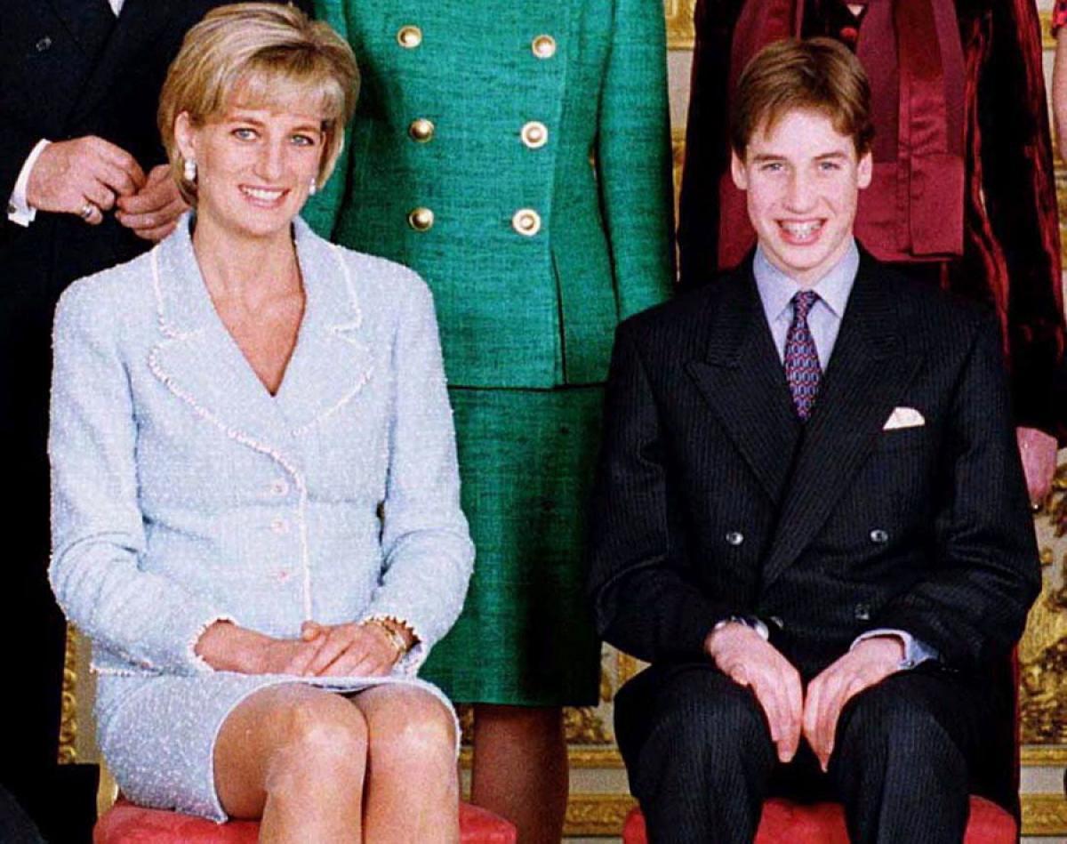 принцесса Диана с принцем Уильямом