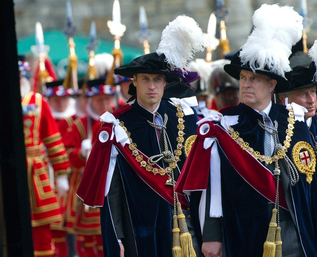 Принц Уильям на службе «Ордена Подвязки»