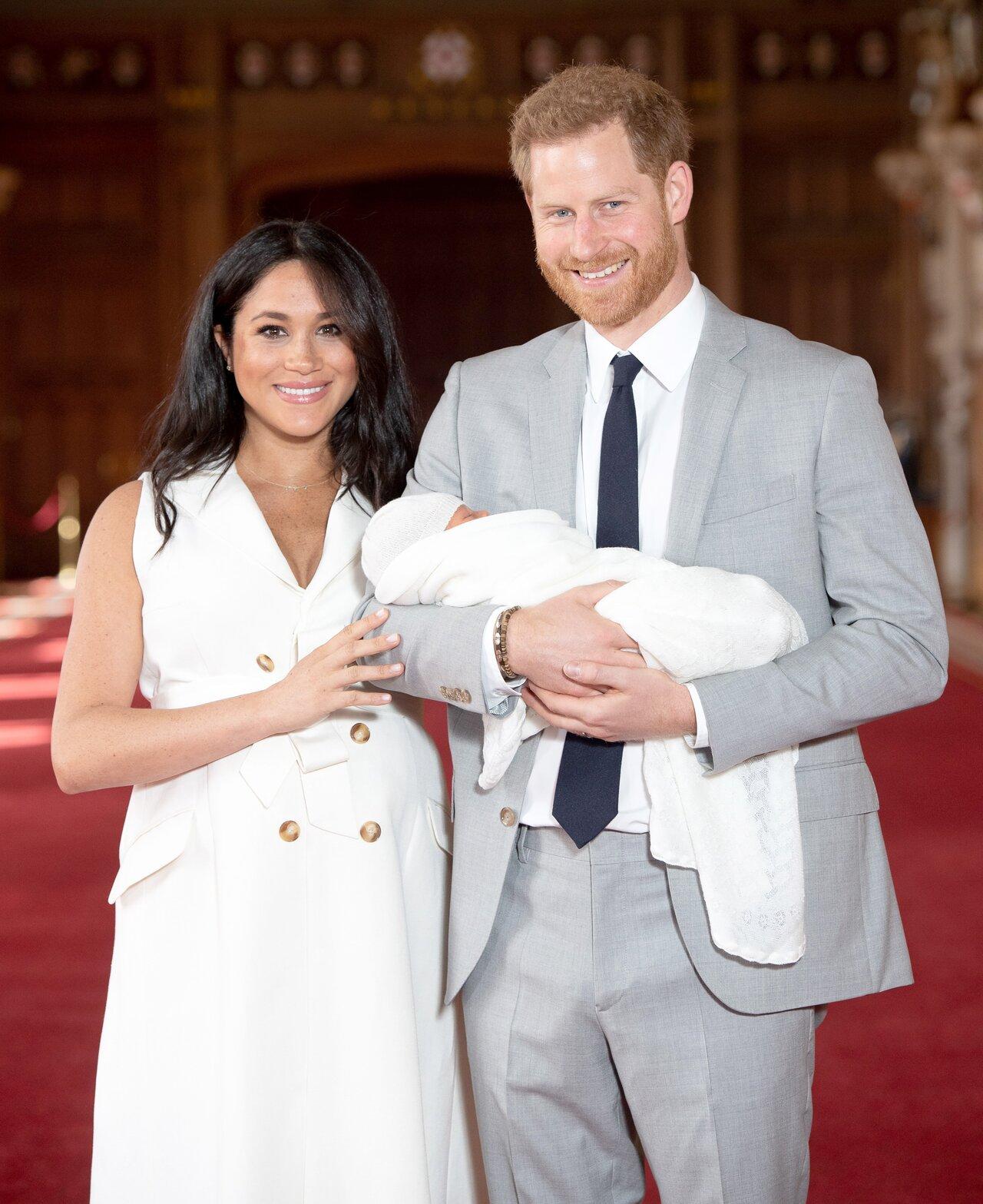 принц Гарри с супругой Меган и сыном Арчи
