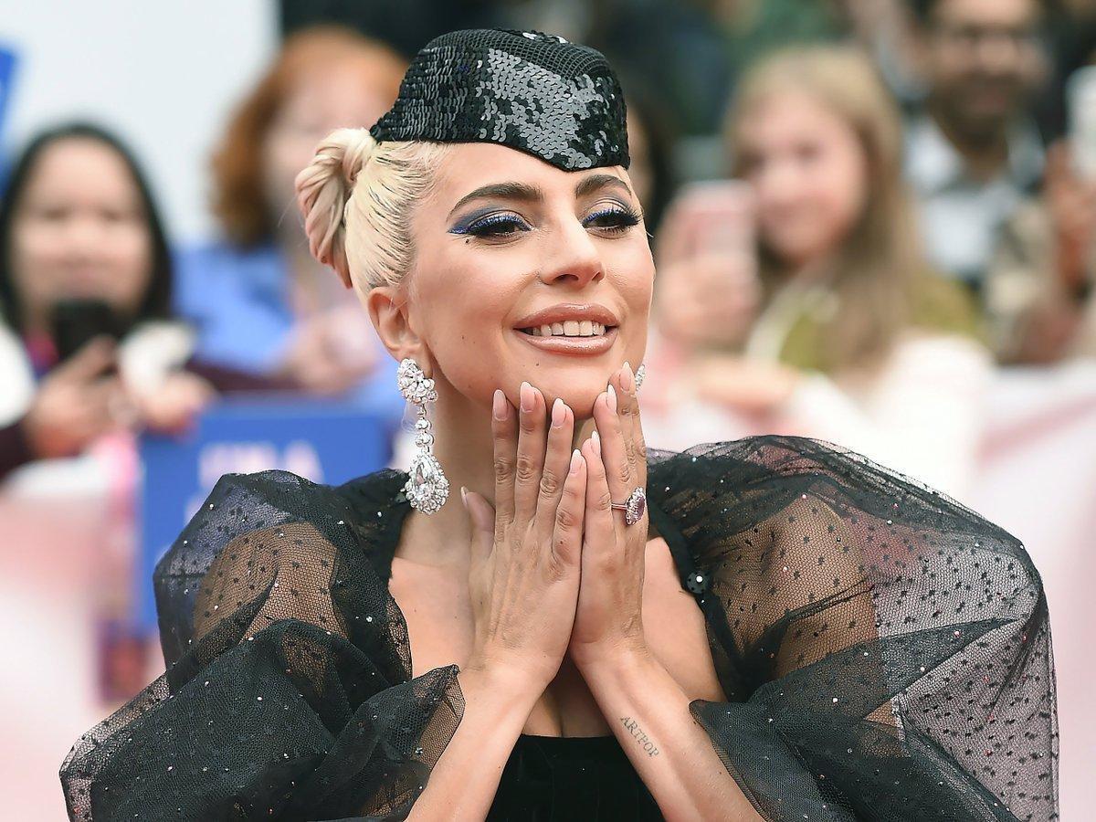 Леди Гага на премьере фильма