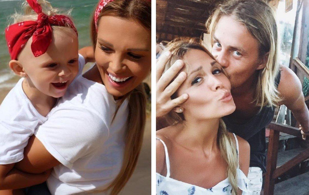 Мария Горбань с дочкой Стефанией и мужем Кириллом