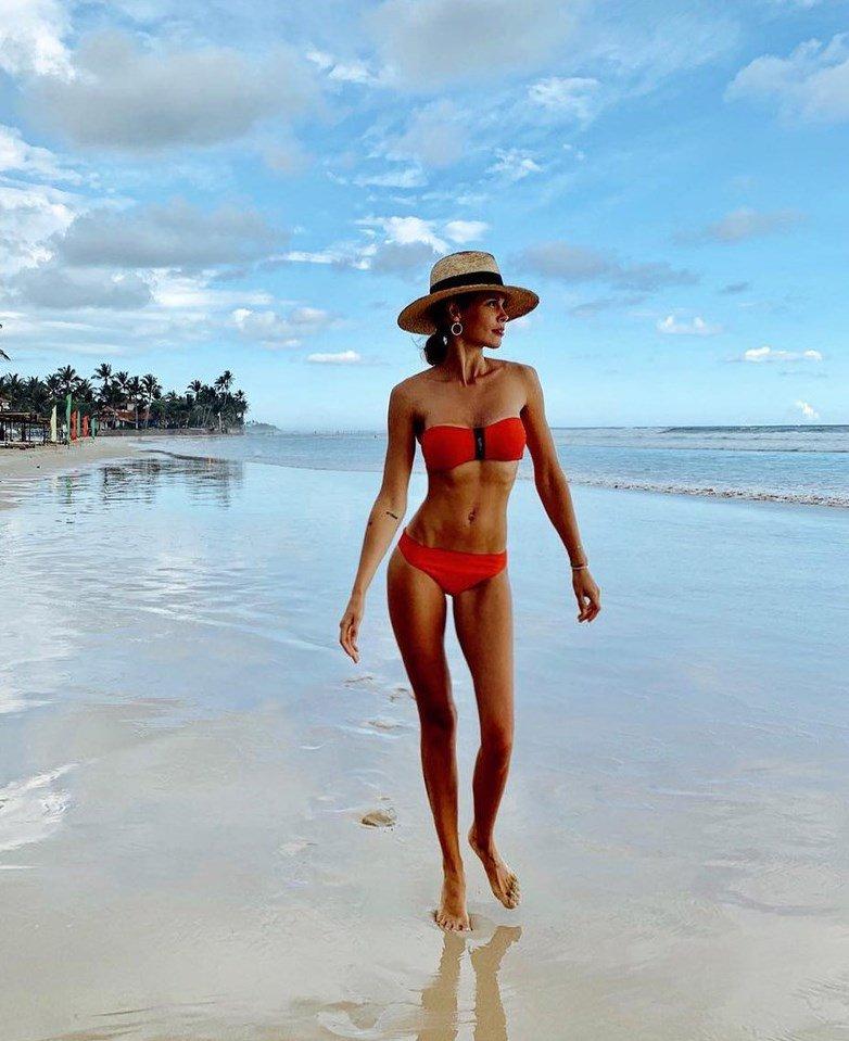 Мария Горбань на пляже