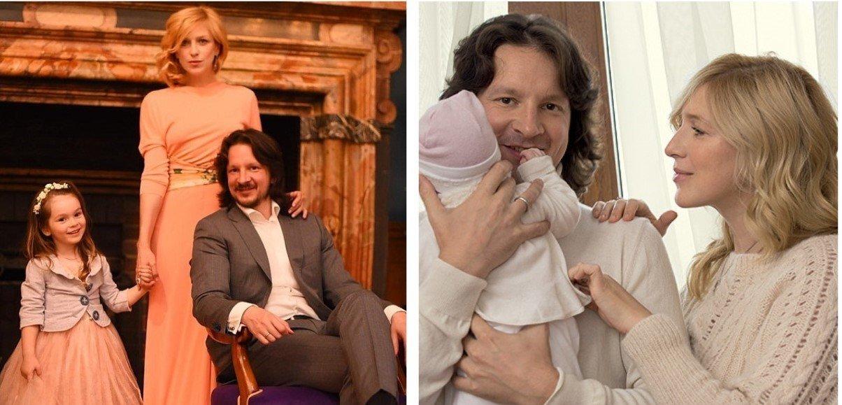 Ирина с мужем Максимом и дочкой Василисой