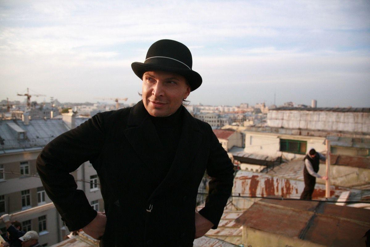 Александр Белоногов на съемках фильма