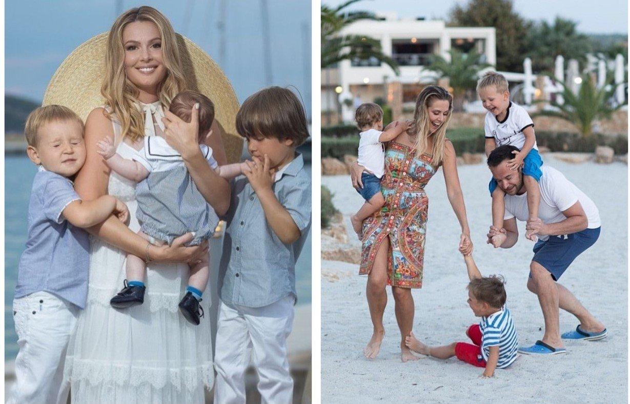 Мария Кожевникова с мужем и детьми