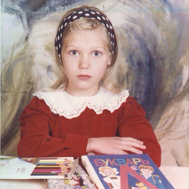 Кристина Мясникова (Асмус) в детстве