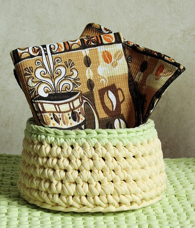 Автор: xPANTERAx, Фотозал: Мое хобби, Вязанная корзиночка. Крючок и спагетти