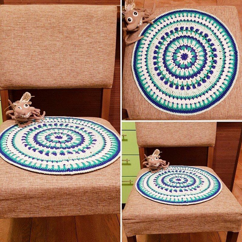 Автор: xPANTERAx, Фотозал: Мое хобби, Связала подарок маме на НГ. Накидка на стул! Стильно и удобно! Техника-волшебные мандалы!!!