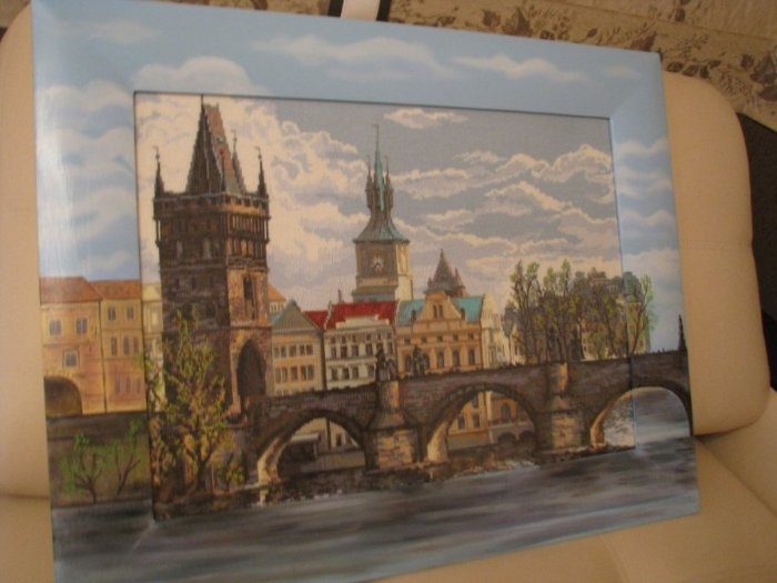 Карлов мост риолис вышивка