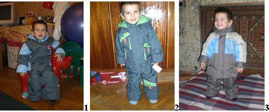 Сравнивая три модели бюджетных комплектов: Б*иб*он(1) арт 6,11, 32,11, цвет голубой/т.серый, размер 92-98, рост ребенка 91. К*варт*ет(2) арт. 007 «Экстрим» цвет яблоко/т.серый, размер 98 ребенок 92-93. Л*емми*нг(3) арт. 120 «человек паук» цвет беж/голубой/коричневый, размер 104 ребенок 92-93. На данный момент стоимость каждого в СП в районе 1500 +/- 100 р. Утеплитель везде термофайбер, при том что в 2 его слой явно тоньше. Самым теплым я бы назвала 1. Носим его от -5 на свитер. При той же толщине утеплителя в 3 будет холоднее ввиду отсутствия защитных манжет на куртке и штанах. Самый холодный 2. Самый функциональный – 1. Защитные манжеты на рукавах и штанинах, полноценный полукомбез с молнией, в отличие от 2 и 3 где только штаны с лямками в общем. Продуманный капюшон. При этом комплект 1 можно укомплектовать как п/комбинезоном, так и просто брючками, с утеплителем или без него. Ткань в марках 1 и 2 одинаковая, намокает, но не промокает, гуляли в мокрые снегопады – снаружи мокро, внутри по швам только становилось мокро через 2 часа прогулок и ползанья в снегу и воде. В данных моделях (1 и 2) основной цвет комплектов полностью идентичен)) На что я и очень рассчитывала. Чтобы осенью носить куртку от 2 со штанами от 1. В 3 отличается ткань, более матовая и нежнее на ощупь, посмотрим как поведет себя при эксплуатации. Подкладка в 2 и 3 трикотаж хб на куртке, подкладочная ткань на штанах и рукавах. На 1 подкладка плотная бязь. Это я назвала бы единственным минусом, хотя это и по ГОСТу. Бязь садится и тянет за собой края куртки и штанов. Приходиться после стирки хорошенько тянуть подкладку. В 1 и 3 узкая горловина, на нашей не плотной шее застегивается нормально, но с усилиями, зато не дует). Правда шлем одеть уже проблематично, но можно если до конца не застегивать. Или как вариант – одевать шлем сверху, не используя капюшон  В 2 горловина пошире, но при той погоде в которую его будем носить уже и шлем не понадобиться. В 1 и 2 есть защита от молнии на подбородке, в 2 боле