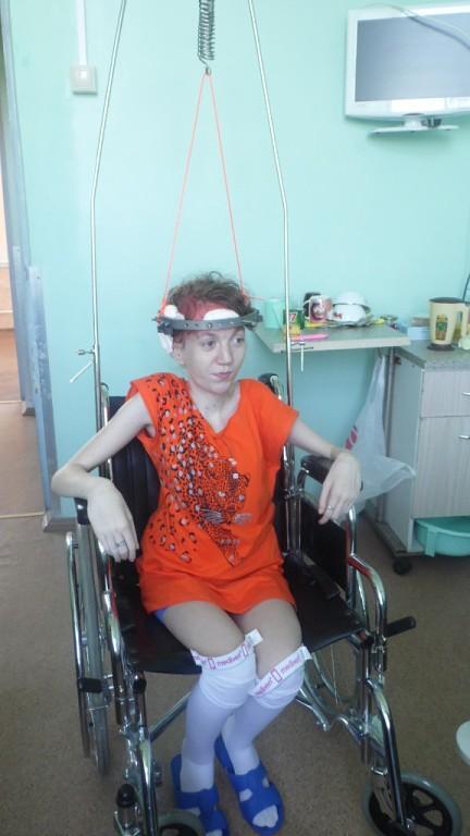 Даша на вытяжке после операции