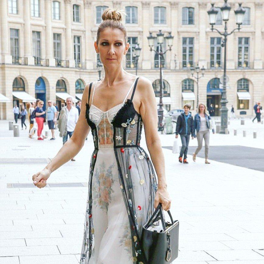 Платье Селин Дион похоже на наряд с барахолки