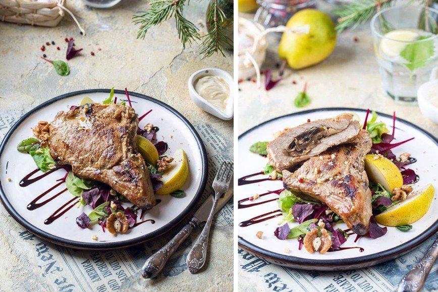 Чем накормить любимого: сочное мясо с грибами и салатом