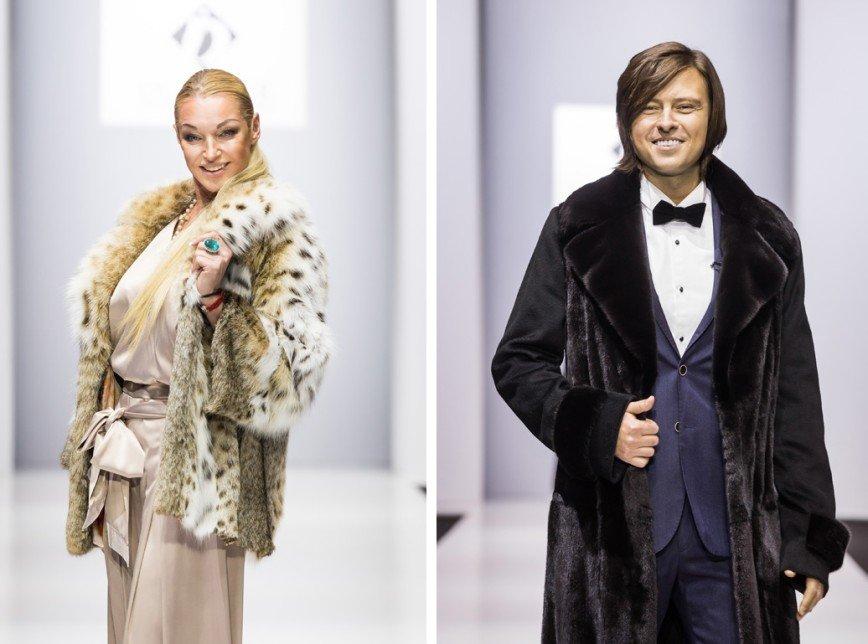 Анастасия Волочкова и Прохор Шаляпин вышли на подиум в меховых манто