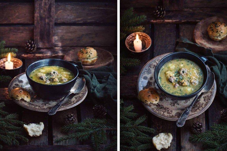 Чечевичный суп с фрикадельками от Анжелики Зоркиной