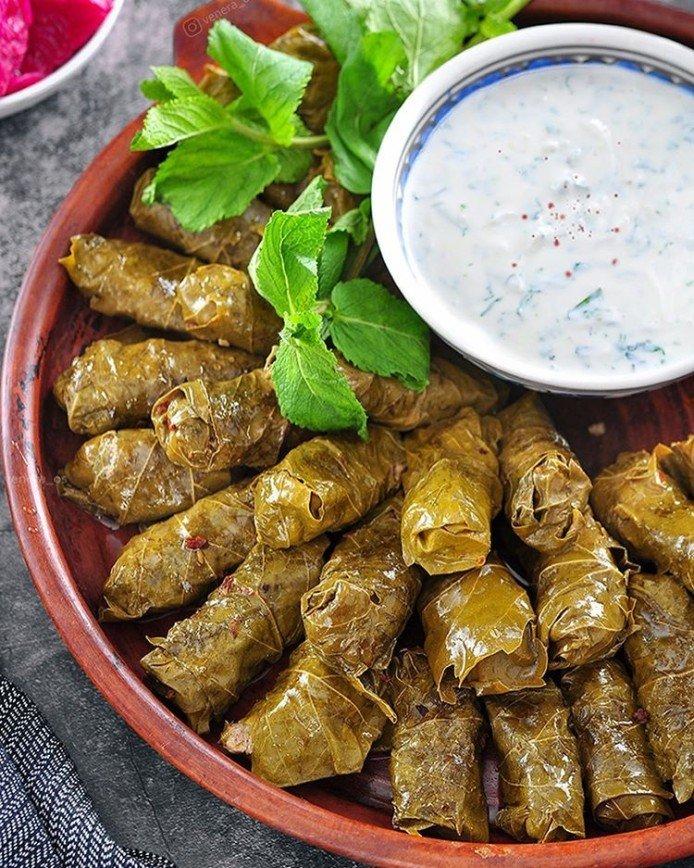 Кавказская кухня: готовим долму в виноградных листьях