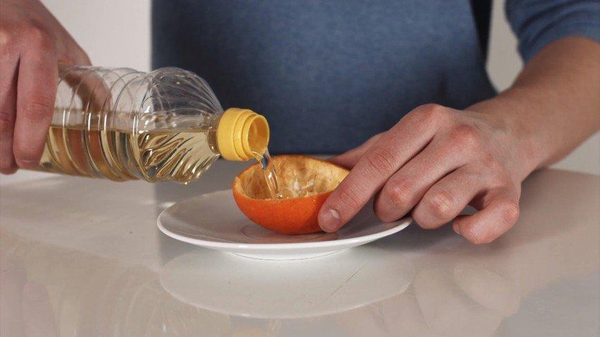 Как сделать свечу из апельсина