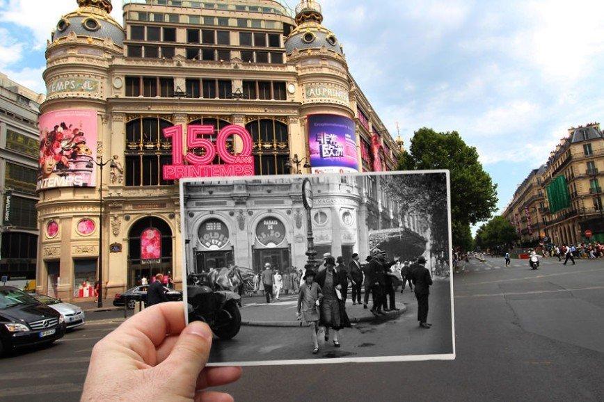 Париж: окна в прошлое: [b][i]Бульвар Осман, магазин Le Printemps, 1930[/i][/b]