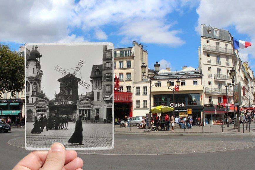 """Париж: окна в прошлое: [b][i]Кабаре """"Мулен Руж"""", бульвар Клиши, 1900[/b][/i]"""