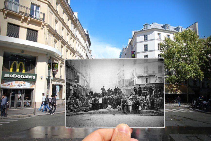 Париж: окна в прошлое: [b][i]Улица Фобур-дю-Тампль, 1871[/b][/i]