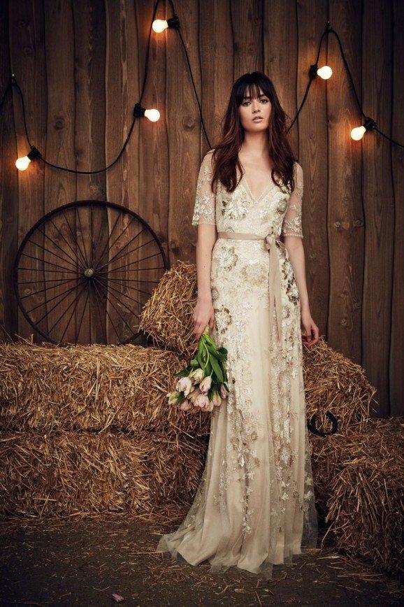 Свадебные платья в стиле кантри от Jenny Packham, весна 2017